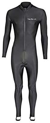 NeoSport Full Body Long Sleeve Lycra Sports Suit for Women and Men – Helps Protect Against UV Rays and Skin Irritants - Great for Swimming, Snorkeling, Scuba Diving and All Watersports, Black, M