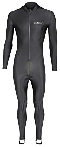 NeoSport Full Body Long Sleeve Lycra Sports Suit for Women and Men – Helps Protect Against UV rays and Skin Irritants - Great for Swimming, Snorkeling, Scuba Diving and All Watersports, Black, 3XL