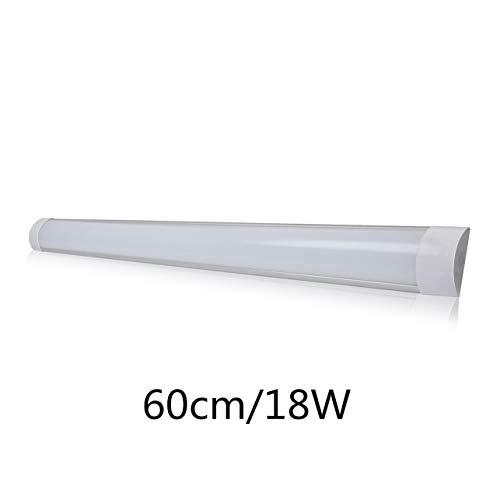 Regleta LED Superficie 60cm 18W 6500k Blanco Frio Luz de Fijacion Purificacion LED Alta Luminosidad Iluminacion Para Cocina Oficinal Comecial ONSSI LED