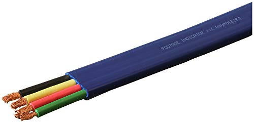 250-Foot Double-Insulated Submersible Pump Cable for Water Wells 10-Gauge 3-Wire + Ground