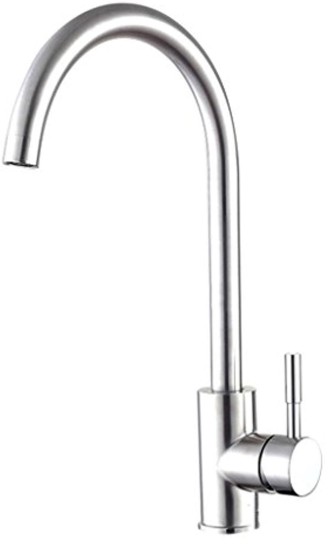 LaaN Edelstahl-Küchen-Hahn kann gedrehtes heies und kaltes Wasser-Bad-Wannen-Hahn gedreht Werden (Farbe   A)