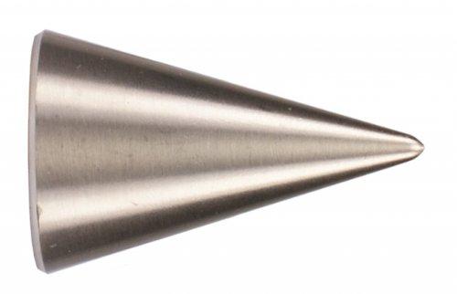Endstück Spitze in Edelstahl Optik für 16 mm Ø Gardinenstangen - Set 2