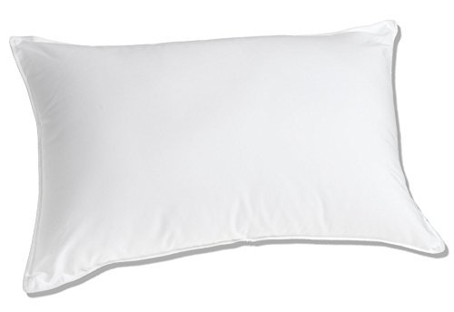Luxuredown White Goose Down Pillow, Medium Firm, 650 Fill Power - Queen Size