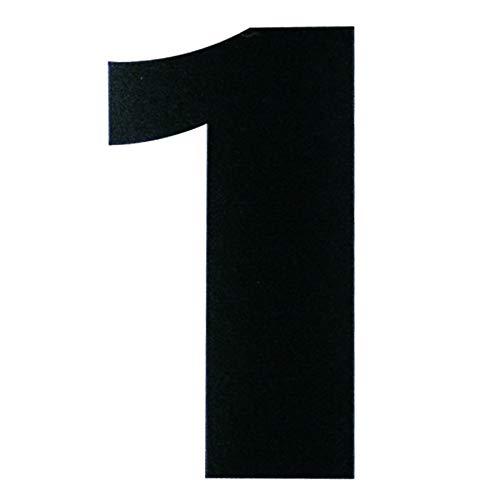 ダイドーハント 磁気ステッカー 数字 ナンバー 1 マグネット 切り文字 10177777 黒 高さ5×幅5cm