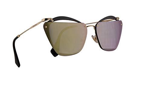 Miu Miu Frau MU54TS Sonnenbrille w/Smaragd Iridium 64mm Objektiv 1AB4J2 MU 54TS SMU 54TS SMU54T Schwarz groß