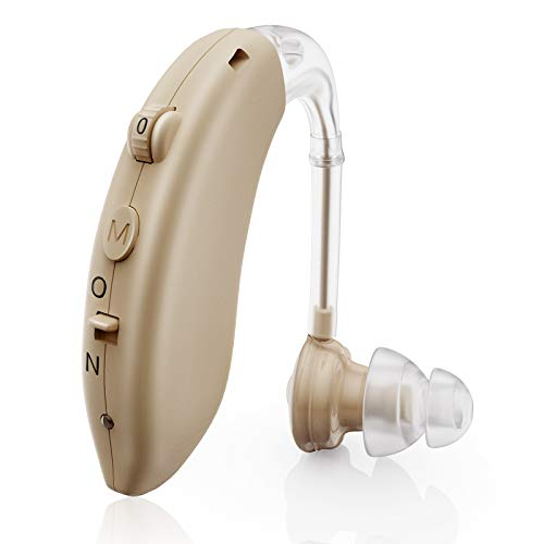Hearing Aid for Seniors Rechargeable with Noise Cancelling, Digital Hearing Amplifier for Adults for Hearing Loss, Sound Amplifiers Ear Hearing Assist Devices with Volume Control