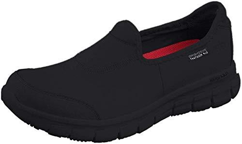Skechers - Zapatillas Deportivas sin Cordones Modelo Sure Track para Mujer señora (41 EU) (Negro)