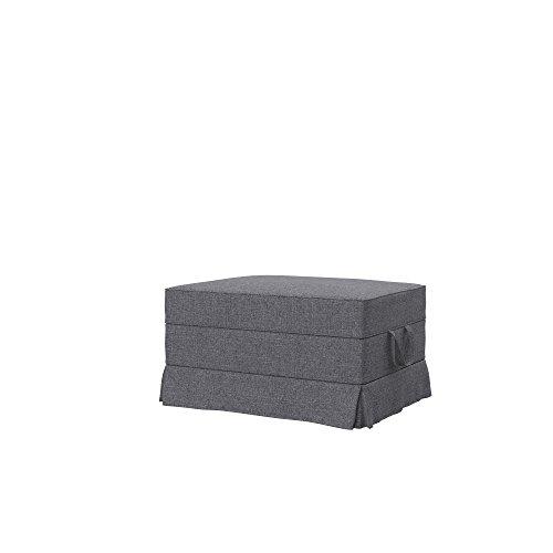 Soferia Bezug fur IKEA EKTORP Hocker, Stoff Naturel Grey