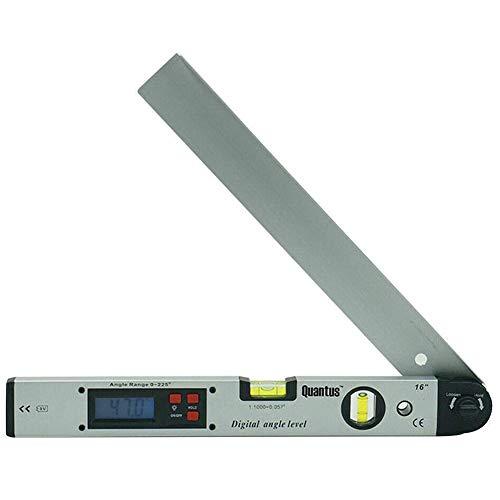 Gradenboog, Digital 0-225 ° waterpas LCD Verlicht Tung 400 mm / 16 inch hoekmeter met batterij voor verticale horizontaal niveau