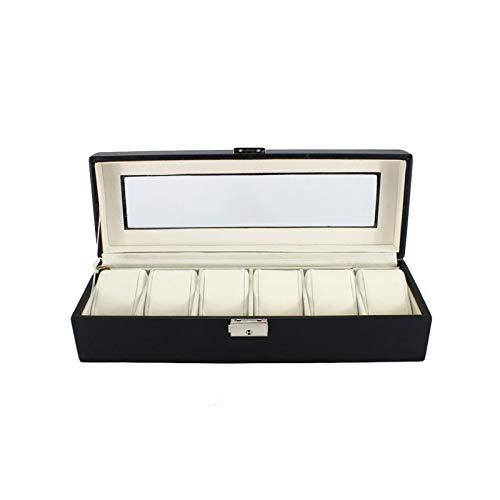 F-HOME Caja De Reloj con Tapa Transparente, Candado De Seguridad Durable Robusto...