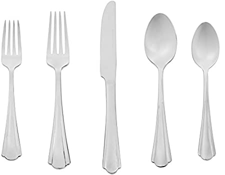 Stainless steel cutlery set from Amazon Basics