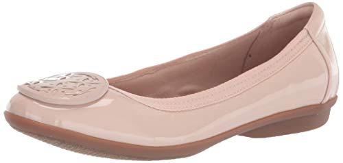 Clarks womens Gracelin Lola Ballet Flat, Blush Synthetic Patent, 9 Narrow US