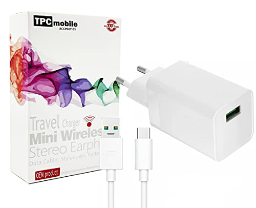Cargador de Red + Cable USB Tipo C Compatible Carga VOOC 20W para OPPO A92, A93, A72, A73, A53, A52
