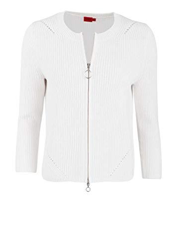 HUGO Sitinary Suéter cárdigan, Natural102, M Regular para Mujer