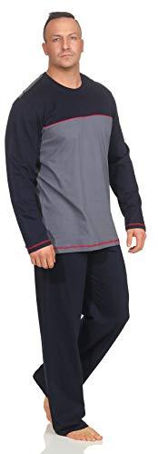 Schiesser Herren Schlafanzug Pyjama lang S102 (54/XL)