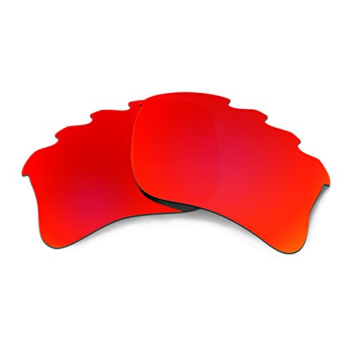 HKUCO Plus Mens Replacement Lenses for Oakley Flak Jacket XLJ-Vented Sunglasses Red Polarized