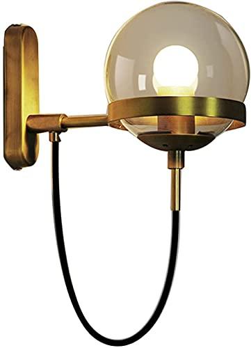 FMYZI Lámpara de Pared, Lámpara de Pared Instalar Pantalla de Cristal de Bola de Burbujas, Lámpara de Pared de Pasillo Pantalla de Cristal de Bola, Muy Adecuada para Dormitorio, Sala de Estar, Pasill