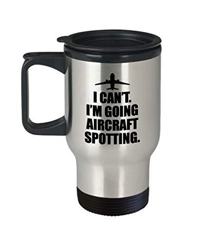 Vliegtuigen Spotter Gift Plane Spotting Reizen Mok Luchtvaart Enthousiaste Present Im Gaan Vliegtuigen Spotting