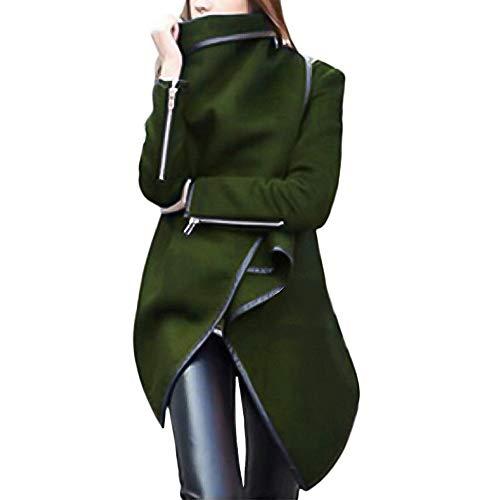 FRAUIT dames parka met ritssluitingen herfst winter vrouwen wollen jas Cool windjas onregelmatige lange mantel trenchcoat gothic kleding mode elegant wondermooi streetwear S-4XL