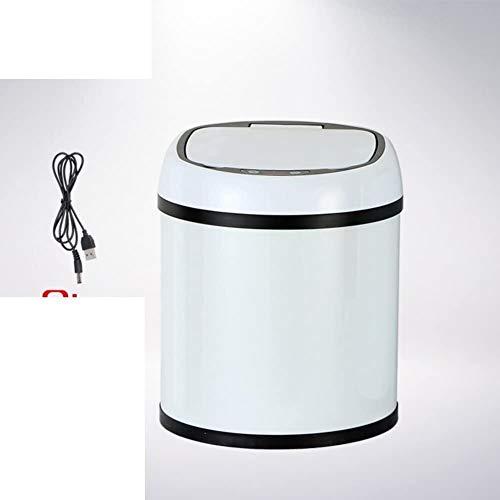 HJKL Verdikte vuilnisbak Afvalbakken voor keukens, Intelligente sensor vuilnisbak Creatieve woonkamer keuken vuilnisbak Badkamer vuilnisbak-E, Kleur:H Eenvoudige moderne high-end vuilnisbak