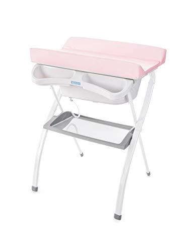 Bañera alta Spalsh ZY Baby - compacta con cambiador, baño para bebes, asiento anatómico - Zippy (Rosa Claro) - Nuevo Modelo!