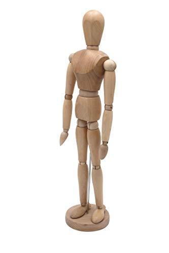 Meister Gliederpuppe 30cm hoch, Mannequin - Zeichenpuppe, aus feinem Samakholz - FSC, Ideal als Modell für Bewegungsstudien