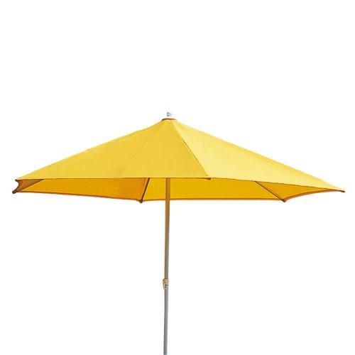 Sonntex ART-Schirm Polyester 250x200/4 tlg. silberner Alu Unterstock, Farbe gelb