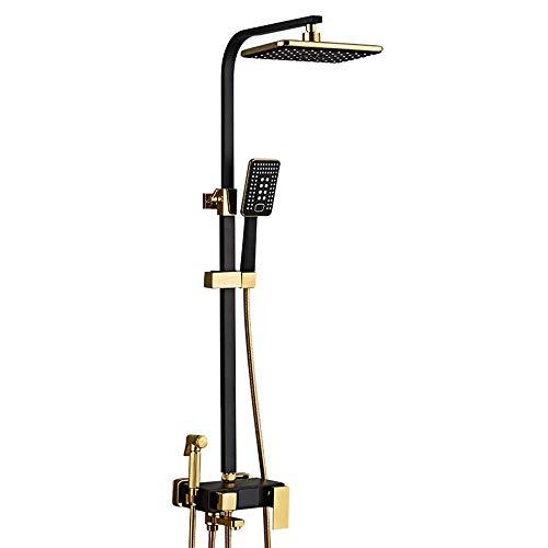 FYYONG Set de ducha inteligente de pantalla digital de juego de ducha grifo de la ducha Top Sistema de elevación ducha del aerosol con la pistola de rociado 4 clases de engranaje de suministro de agua