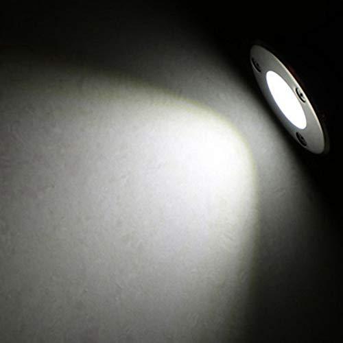 Ny LED Utomhus Golv Golv Underground 1W / 3W / 5W / 6W / 7W / 9W / 12W / 15W / 18W Buried Lamp Spot Landscape Light a (Emitting Color : Cold White, Wattage : 3W)