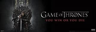 Game of Thrones You Win or Die Epic Fantasy Action HBO TV Television Show Print Poster 12 by 36