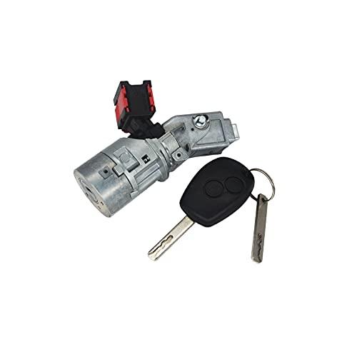 KASturbo Zündschlossschalter für Trafic Clio MK3 Kangoo MK2 7701208408, Zündschloss Barrel Starterschalter mit Schlüssel