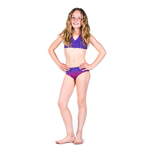 Sun Tails Meerjungfrau Bikini Bali Blush M Neckholder Kinder Erwachse zum Schwimmen