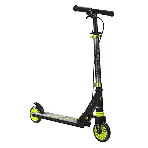 Ygqtbc Vespa adulto 2019 Mejorado-kick scooter plegable de altura ajustable de doble suspensión del guardabarros trasero de freno de aluminio ligero de aleación de cercanías 220lb Max gran carga de ru