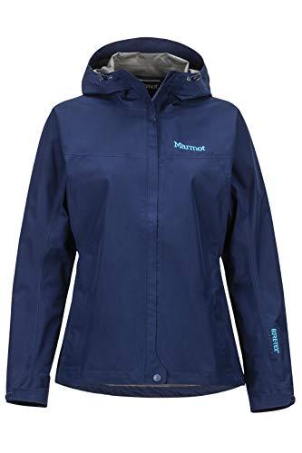 Marmot Minimalist Chaqueta Hard Shell Impermeable con Capucha Ajustable, Mujer, Azul Marino Polar, XS