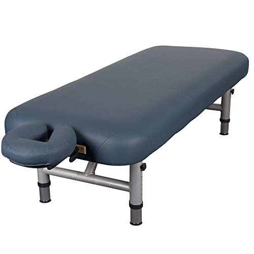 """EARTHLITE Physical Therapy Table YOSEMITE 30 – Extra Wide, Adjustable Low Height (20-26.5"""") Aluminum Exam & Massage Table, Face Cradle & Face Pillow (30x73""""), Agate"""
