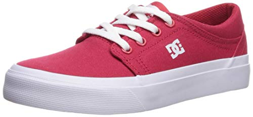 DC Boys' Trase TX Skate Shoe, RED, 5.5 M US Big Kid