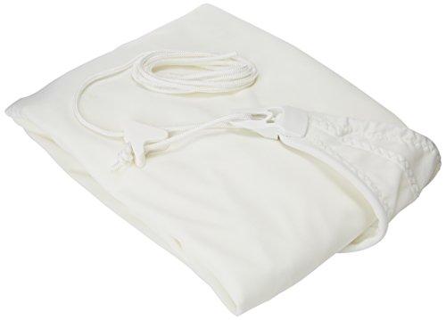 SUN & VELA Voile d'ombrage carré Extensible Easy Sail, Blanc, 300x300x300 cm