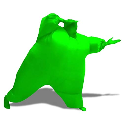 Eurowebb heren kostuum groen opblaasbaar kostuum