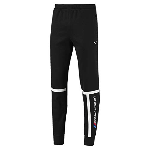 PUMA Herren BMW MSP Sweat Pants Closed, Herren, Jogginghose, BMW M Motorsport Sweat Pants, schwarz, Large
