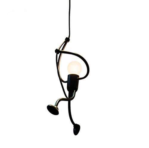 Ferro Lampada a sospensione, lampadari creativi del lampadario di disegno del fumetto del ferro per per i bambini Camera da letto dei bambini, E27, lampadina non inclusa