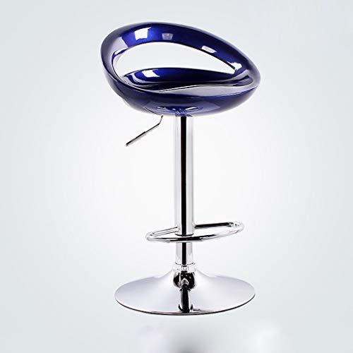 YANGSANJIN barstoel Cqq Barst moderne minimalistische hoge stoel barkruk terug kruk op de stoel (kleur: blauw, maat: 38,5 * 80-100cm)