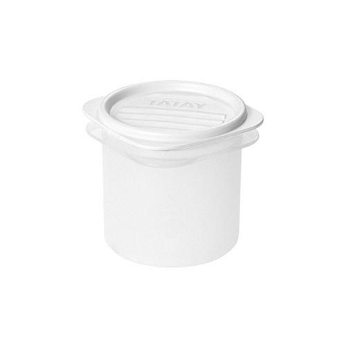 Tatay 1160001 Contenedor de alimentos hermético cilíndrico flexible a presión. Plástico transparente...