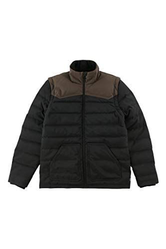 O'NEILL Men's Removable Sleeve Water Repellant Down Jacket (Cocoa/Sierra, XL)