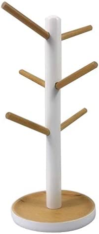 San Francisco Mall Wooden Mug outlet Hanging Display Rack Drinkware Hooks Shelf with Tre 6