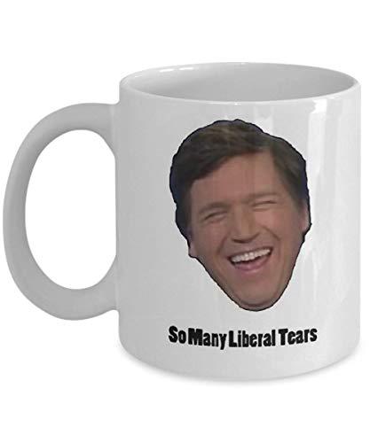 Tucker Carlson Taza de café, graciosa, taza, té, regalo para Navidad, día del padre, Navidad, papá, aniversario, día de la madre, papá, corazón, Papá Noel