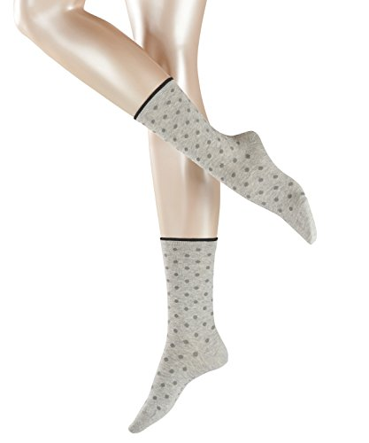 ESPRIT Damen Socken Melange Dot - Baumwollmischung, 1 Paar, Grau (Storm Grey 3820), Größe: 39-42