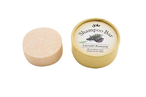 JOLU Festes Shampoo Lavendel Rosmarin Bio Haarseife für trockenes Haar | Shampoo Bar Naturkosmetik Damen Männer | Seife für Haare | Plastikfreies Shampoo vegan ohne Tierversuche