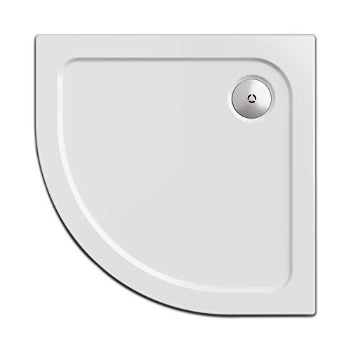 Nordona Duschwanne/Duschtasse SIMPLEX, viertelkreis 90 x 90 cm | Flache Aufbau-Höhe: 5,5 cm | Kompatibel VersoFlat Ablauf