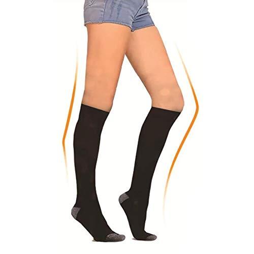 Calcetines con calefacción para hombres y mujeres, alimentados con pilas, recargables para deportes de invierno (calefactados 19 horas, 3 temperaturas ajustables, hasta 142 °F), color gris