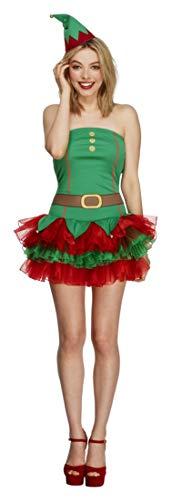 Smiffy'S 26222S Disfraz Fever De Elfa Con Vestido Tut Y Gorro, Verde, S - Eu Tamao 36-38